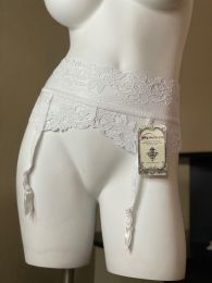 Roma Pearl White Lace Garter Belt