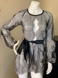 Black Tulip Lace Robe