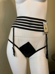 Misty Black Retro High-Waisted Panty with Detachable Garters