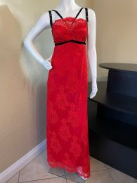 Moulon Rouge Red Lace Dress Gown