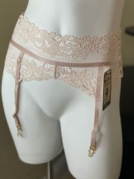Roma Cappuccino Lace Garter Belt